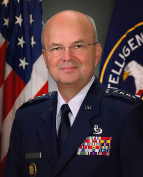 Side block michael hayden  cia official portrait